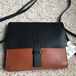 NWT Zara Leather crossbody
